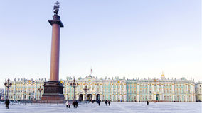 Palace Square in St. Petersburg in the winter Stock Photos