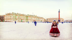 Palace Square in St. Petersburg in the winter Royalty Free Stock Image