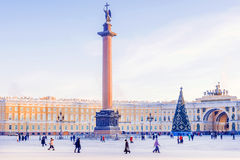 Palace Square in St. Petersburg in winter Stock Photography