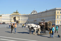 Palace Square at summer day. Royalty Free Stock Photo
