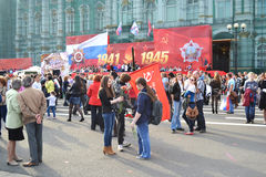 Palace Square on Victory Day Stock Photos
