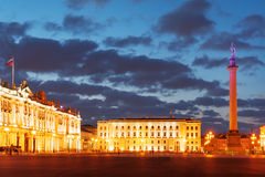 Palace Square at white night Stock Photography