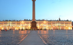 Palace Square at white night Royalty Free Stock Images