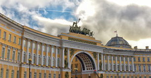 Palace Square wide view. The Palace Square - General Army Staff Building in St.Petersburg, Russia Royalty Free Stock Image