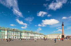 Palace Square with the Winter Palace in Saint Petersburg, Russia Royalty Free Stock Photos