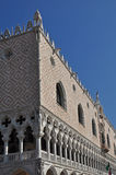 Palace in St Mark's Square Venice. A view of the beaautifully decorated walls of the palace in Saint Mark's Square Venice's waterfront Royalty Free Stock Photography