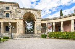 Palace of St. Michael and St. George, Corfu, Greece Royalty Free Stock Photo