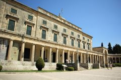 Palace of St. Michael and St. George in Corfu Royalty Free Stock Image