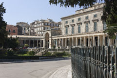 Palace of St Michael and St George in Corfu Stock Photo