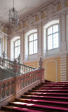 Palace staircase. Staircase in Rundale palace in Latvia - a unique treasury of baroque and rococo art Stock Images