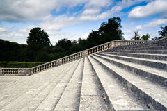Palace stairs. View of the stone stairs in the Versailles Palace garden Royalty Free Stock Photo