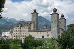 Palace Stockalper, Brig, Valais, Switzerland Royalty Free Stock Photography