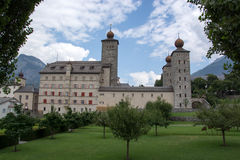 Palace Stockalper, Brig, Valais, Switzerland Stock Photography
