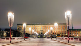 Palace in Stockholm Royalty Free Stock Photography