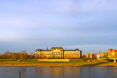 Palace at sunset time. A palace at sunset time, looks golden Royalty Free Stock Image