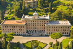 Palace surrounded by trees, Rome Royalty Free Stock Photos