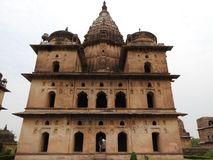 Palace temple complex in Orcha. Madhya Pradesh. India royalty free stock photography