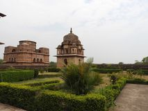 Palace temple complex in Orcha. Madhya Pradesh. India royalty free stock images