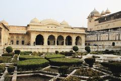 Palace and Terrace Garden Royalty Free Stock Image