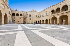 Palace of thr Grand Magister at Rhodes Stock Image
