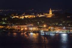 Palace Topkapi by night stock image