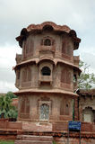 Palace tower. Unique building design of a historic Indian palace built in the early 1700s Stock Image
