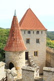 Palace and tower of Kokorin castle Royalty Free Stock Images