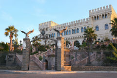 Palace with towers and parade stair Royalty Free Stock Photo