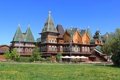 Moscow, Russia - May 11, 2018: The beautiful palace of Tsar Alexei Mikhailovich in Kolomenskoye stock photos