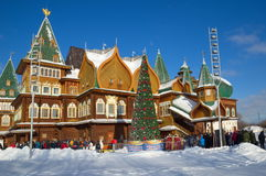 The Palace of Tsar Alexei Mikhailovich in Kolomenskoye, Moscow, Russia Royalty Free Stock Image