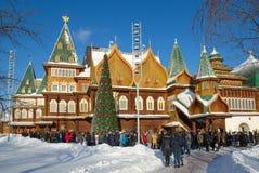The Palace of Tsar Alexei Mikhailovich in Kolomenskoye, Moscow, Russia Stock Photo