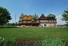 The Palace of Tsar Alexei Mikhailovich. The restored Palace of Tsar Alexei Mikhailovich Kolomenskoye Park in Moscow Stock Photo