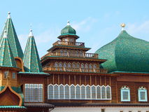 Palace of the Tsar Alexey Mikhailovich from the XVII century. A reconstructed wooden Palace of the Tsar Alexey Mikhailovich, XVII century. It is located in Stock Photo