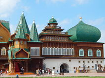 Palace of the Tsar Alexey Mikhailovich from the XVII century. A reconstructed wooden Palace of the Tsar Alexey Mikhailovich, XVII century. It is located in Royalty Free Stock Photography