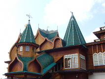 Palace of the Tsar Alexey Mikhailovich from the XVII century. A reconstructed wooden Palace of the Tsar Alexey Mikhailovich, XVII century. It is located in Stock Photography