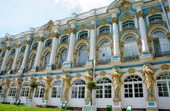 Palace in Tsarskoye Selo. The building is the main palace in Tsarskoye Selo Stock Photos
