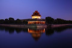 Palace turret at dusk Royalty Free Stock Photography