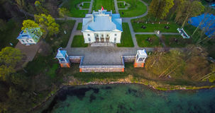 Palace of Tyshkevich, aerial view Stock Photo