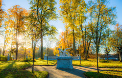 Palace of Tyshkevich garden sculptures Royalty Free Stock Image