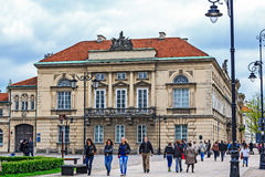 Palace of Tyszkiewicz in Warsaw Stock Images