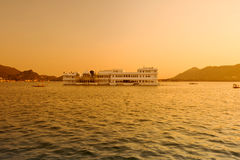 Palace.Udaipur.India. Lake Palace under sunset. Lake Pichola.Udaipur.India Stock Photos
