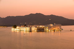 Palace.Udaipur.India. Lake Palace under sunset. Lake Pichola.Udaipur.India royalty free stock photo