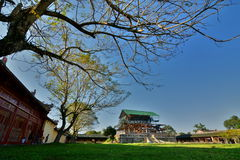 Palace under reconstruction. Imperial City. Hue. Vietnam stock photo