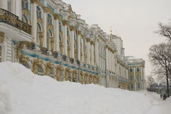 Palace under the snow Stock Photography