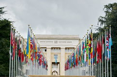 Palace of United Nations in Geneva, Switzerland Royalty Free Stock Image