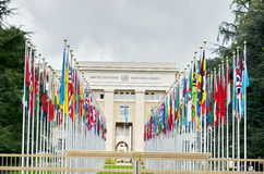 Palace of United Nations in Geneva, Switzerland Stock Photography