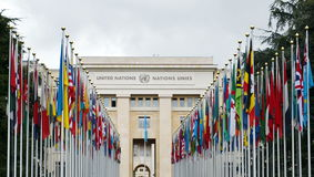 Palace of United Nations in Geneva, Switzerland Royalty Free Stock Photo