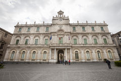 Palace of the University of Catania. Historical building Royalty Free Stock Photos