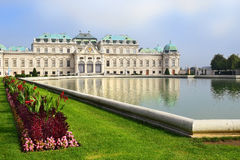 Palace Upper Belveder, Vienna, Austria Royalty Free Stock Photos