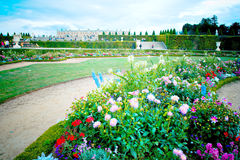 Palace of Versailles. The Palace of Versailles, or simply Versailles, is a royal château in Versailles, in France's Île-de-France region. In French, it is Royalty Free Stock Photos